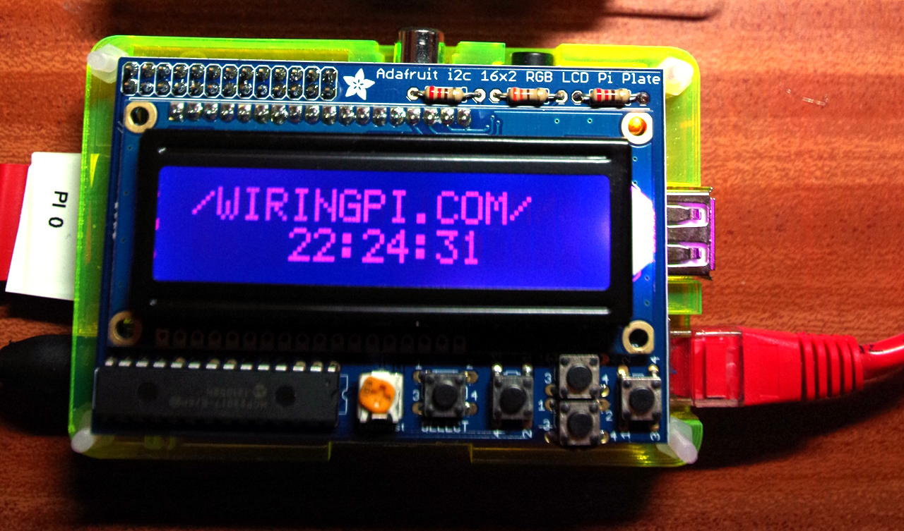 Adafruit Rgb Lcd Plate And Wiringpi Wiring Pi On Raspberry The Ldc A In 5 8th Of Pibow Case